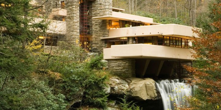 نمای خارجی خانه آبشاری