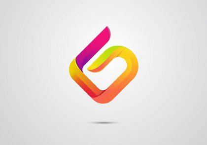 طراحی لوگو سه بعدی حرف G در ایلوستریتور