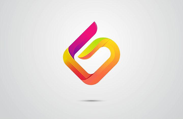 طراحی لوگو (نماد) سه بعدی حرف G در ایلوستریتور