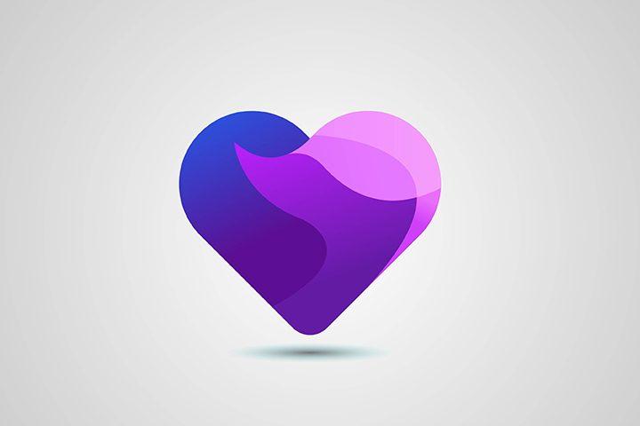آموزش طراحی لوگو قلب چند لایه در ایلوستریتور