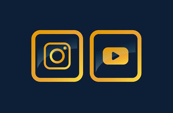 آموزش طراحی لوگو یوتیوب و اینستاگرام بصورت آیکون شیشه ای در ایلوستریتور