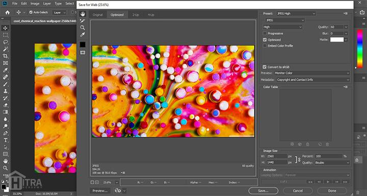 آموزش ذخیره کردن و خروجی گرفتن از تصاویر با فرمت های مختلف و تنظیمات مربوط به آن