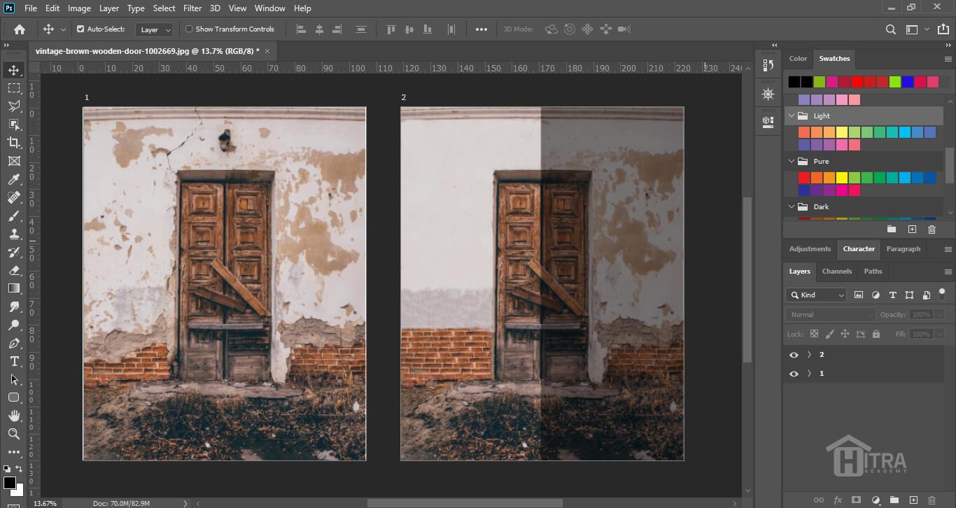نحوه کار با ابزار های ترمیم و بازسازی تصاویر