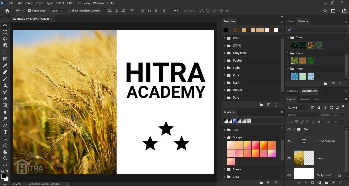 آموزش کار با رنگ ها در فتوشاپ 2020