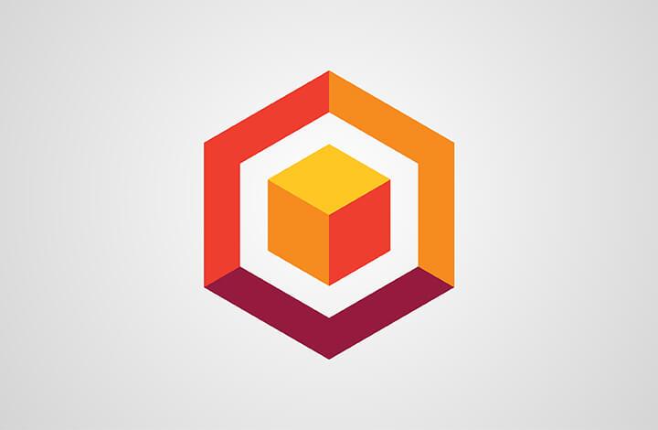 آموزش طراحی لوگو مکعبی شش ضلعی