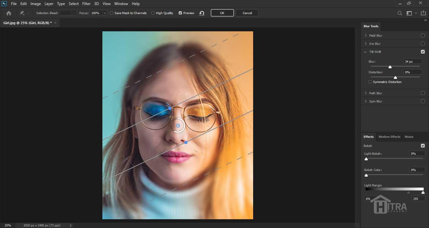 آموزش فیلتر Blur در Photoshop 2020
