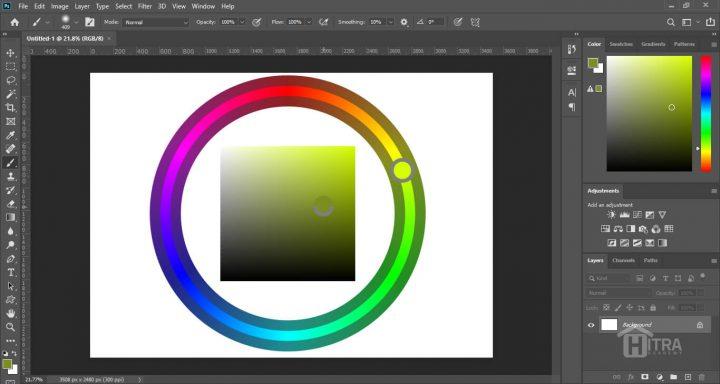 انتخابگر رنگ چرخشی در فتوشاپ