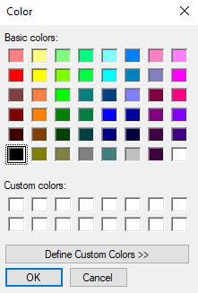 Color Picker در حالت Window