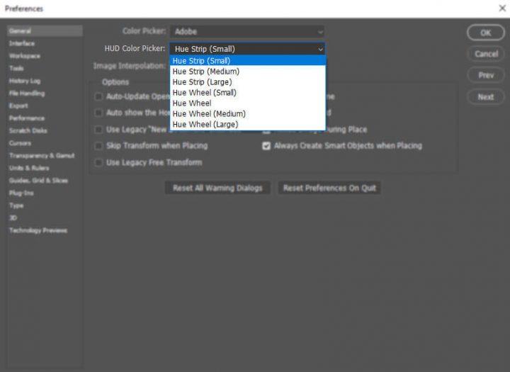 تنظیمات HUD Color Picker