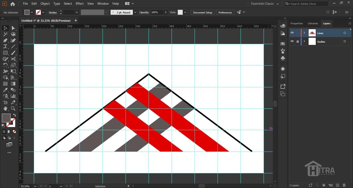 آموزش رسم خطوط با ابزار Line Tool