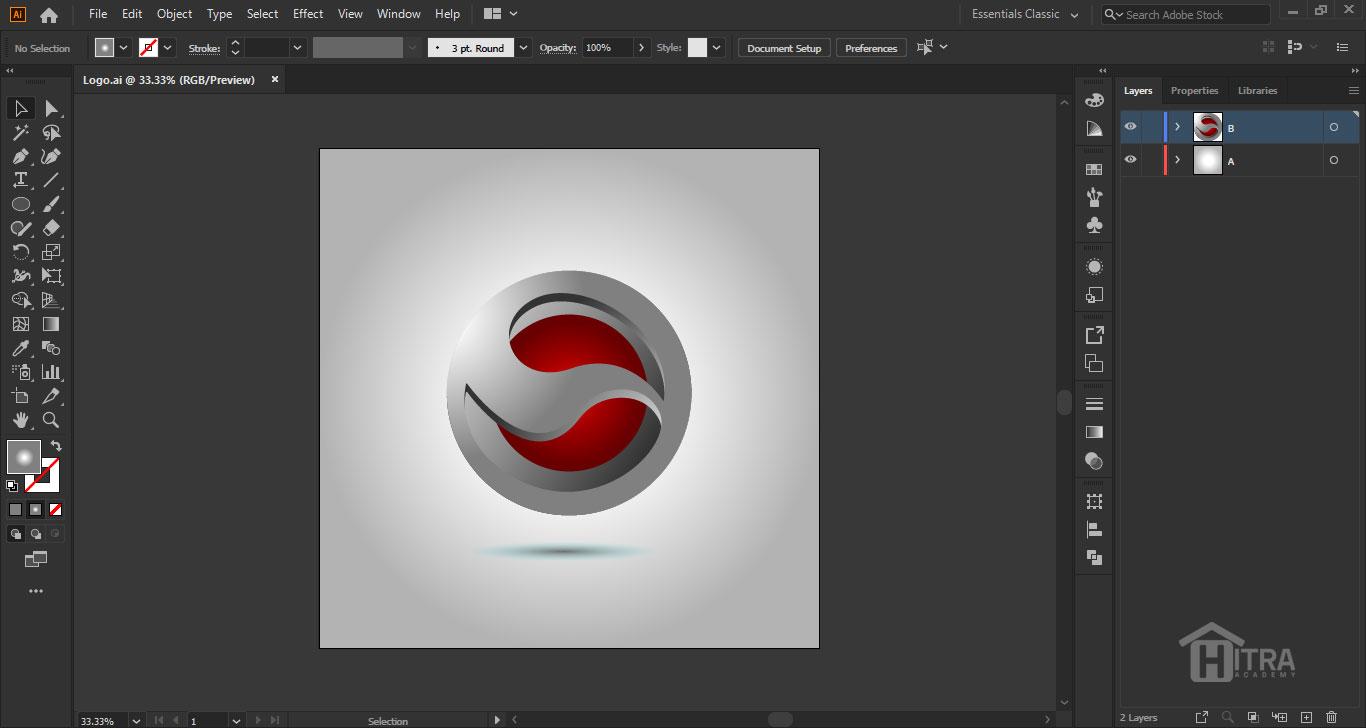 آموزش طراحی لوگو در ایلوستریتور 2020