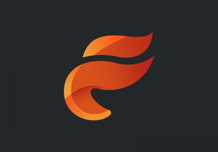 طراحی لوگو شعله آتش فانتزی در ایلوستریتور