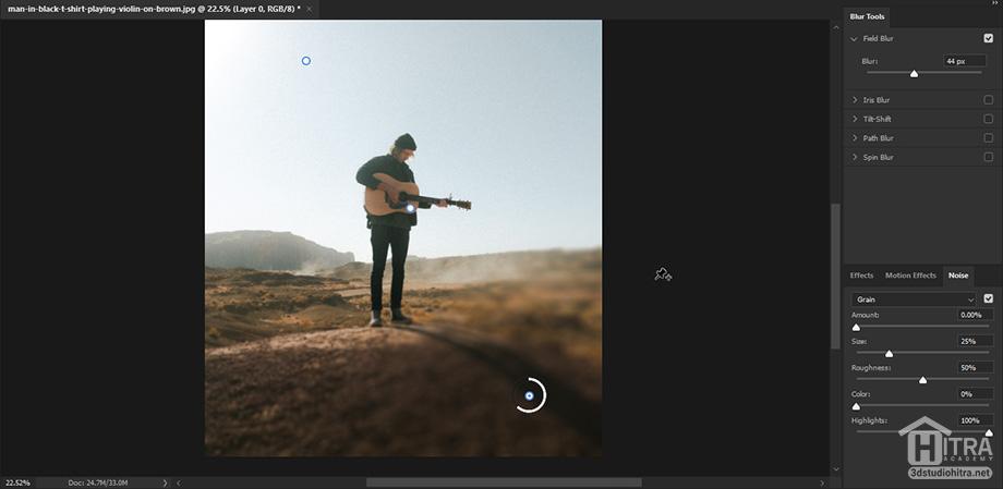 تار کردن قسمتی از عکس با فیلتر Field Blur