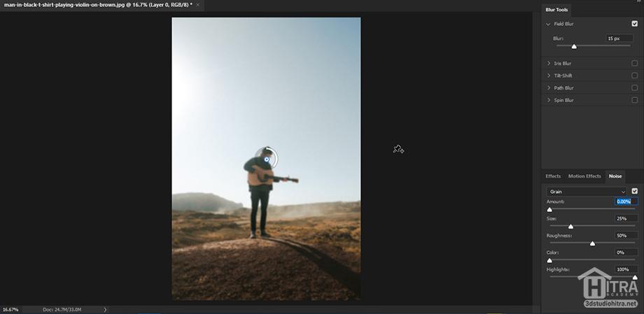 اعمال فیلتر Field Blur بر روی عکس ها