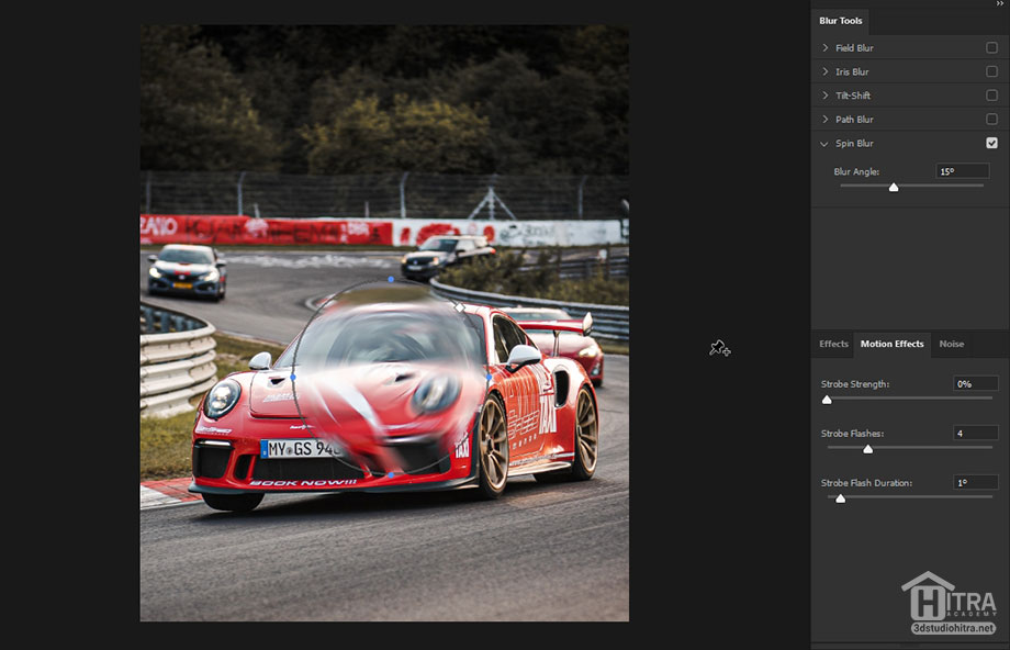 اعمال فیلتر Spin Blur بر روی تصاویر در فتوشاپ