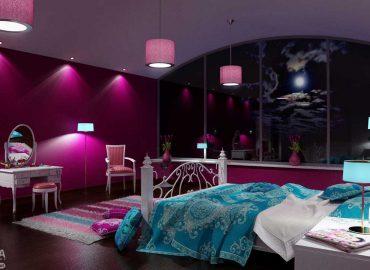 صحنه داخلی اتاق خواب کلاسیک