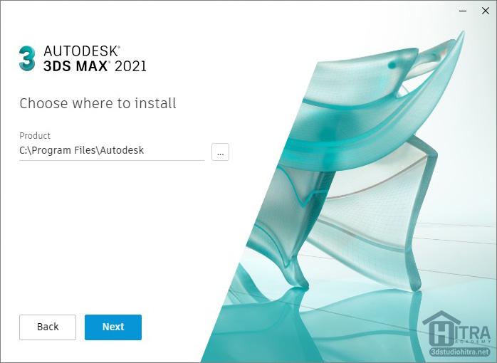 تعیین محل نصب 3ds Max