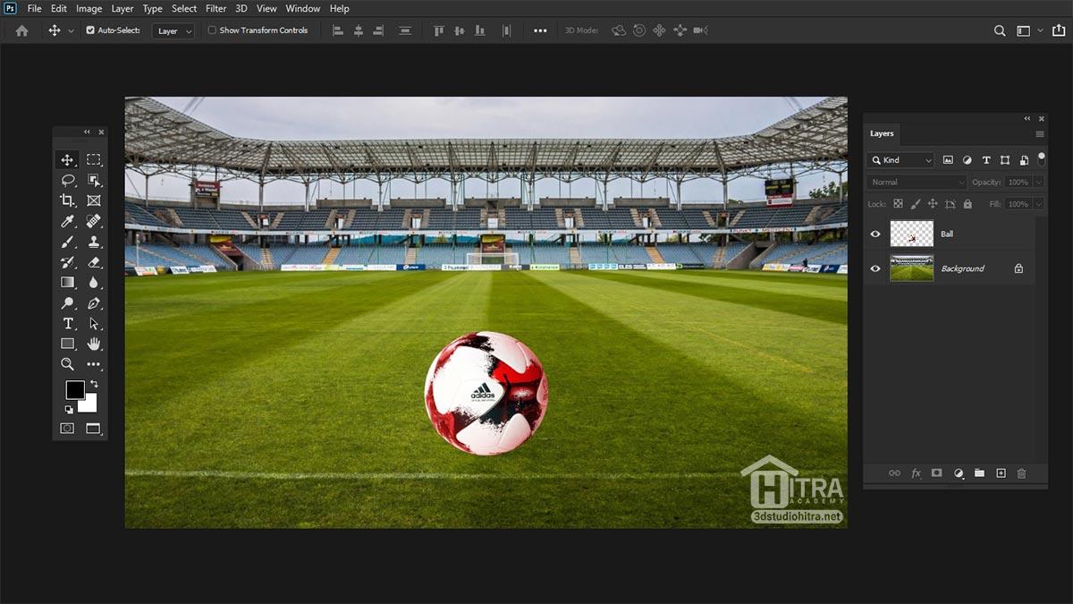 تصویر استادیوم فوتبال در فتوشاپ