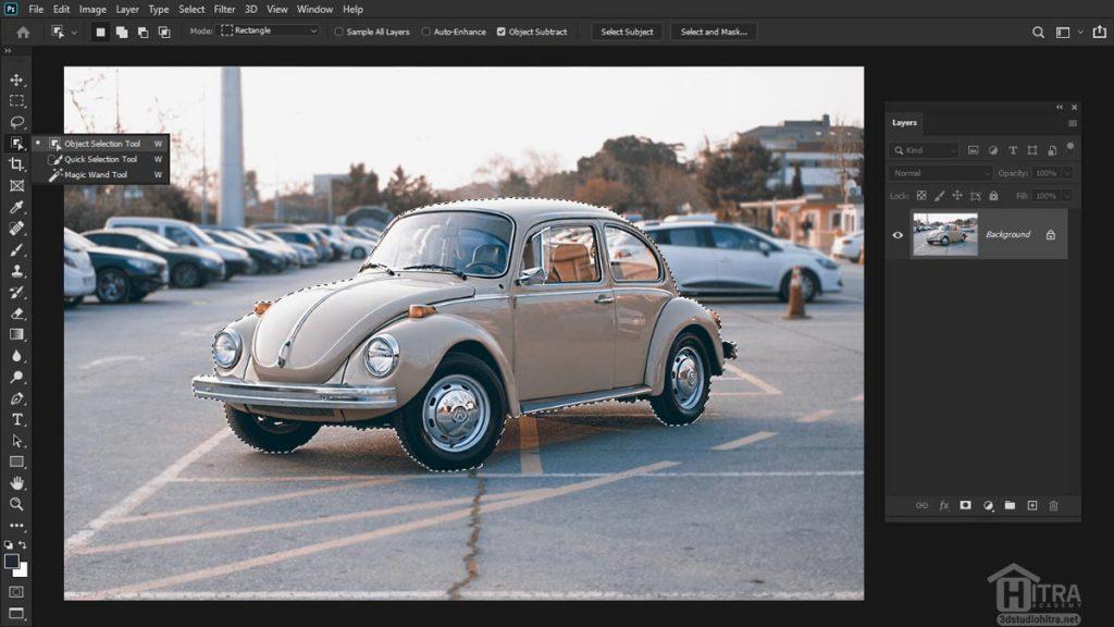 انتخاب کردن ناحیه ای از تصویر با ابزار Object Selection