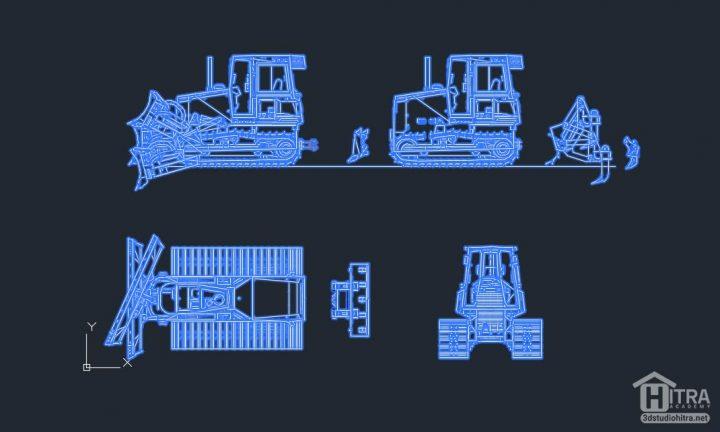 آبجکت دو بعدی ماشین آلات ساختمانی