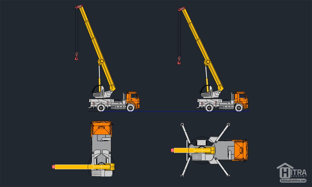 دانلود آبجکت ماشین آلات در اتوکد dwg