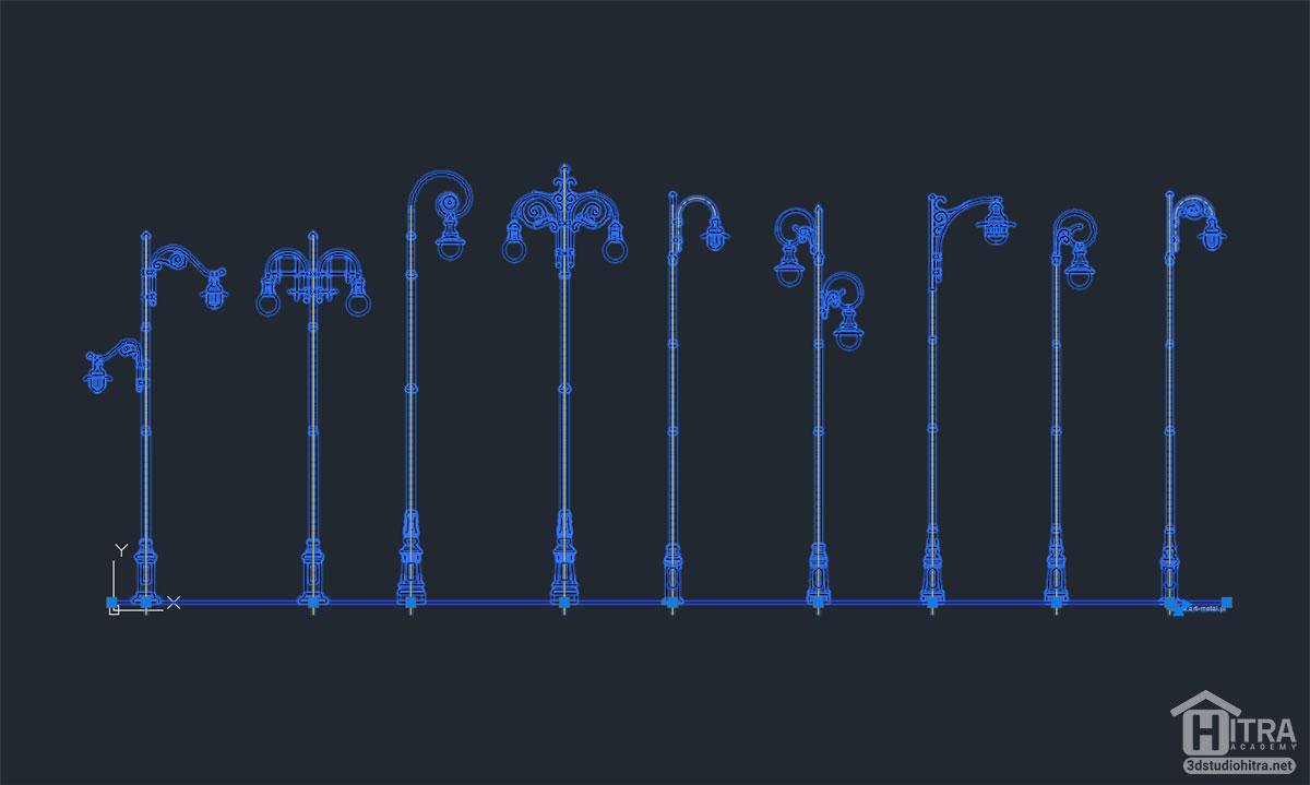 آبجکت چراغ اتوکد جهت استفاده در نقشه های اتوکد (dwg)