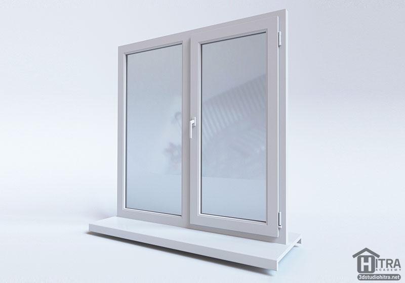 آبجکت تری دی مکس پنجره