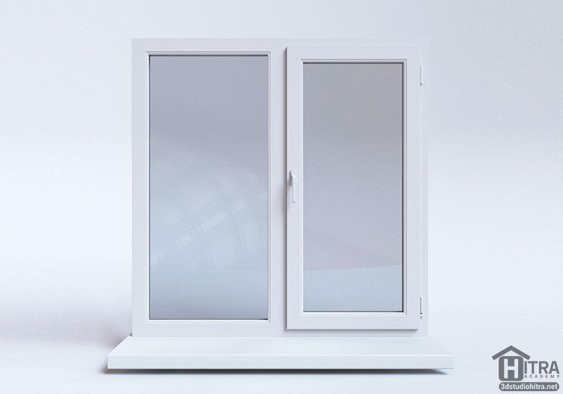 طرح سه بعدی پنجره جهت مدلسازی در نرم افزار تری دی مکس