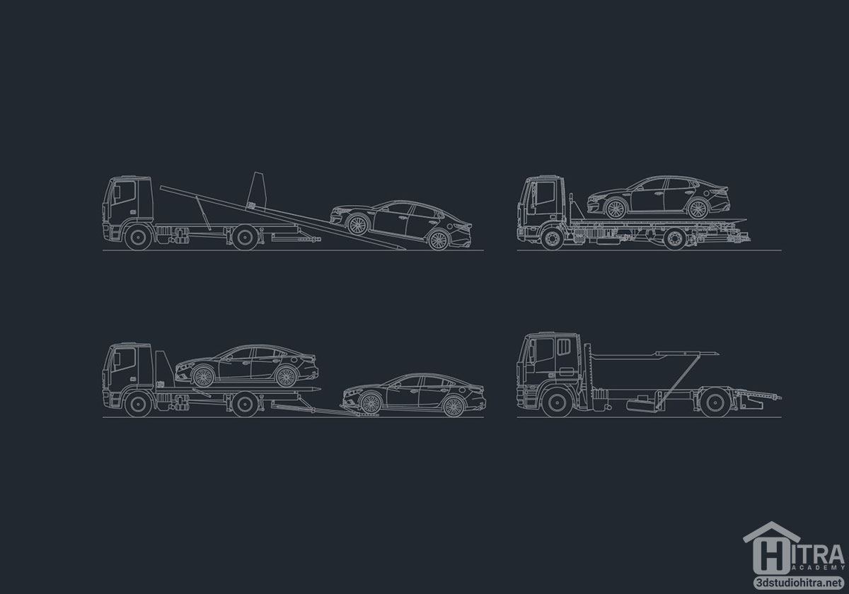 طرح اتوکد کامیون