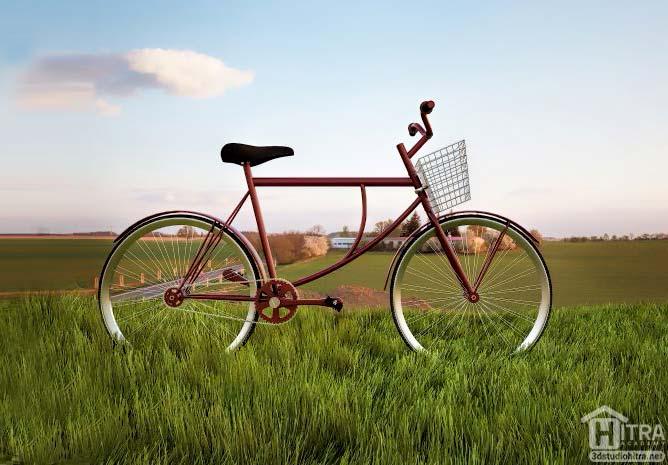 آبجکت دوچرخه تری دی مکس