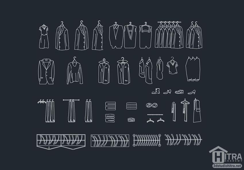 مبلمان لباس اتوکد