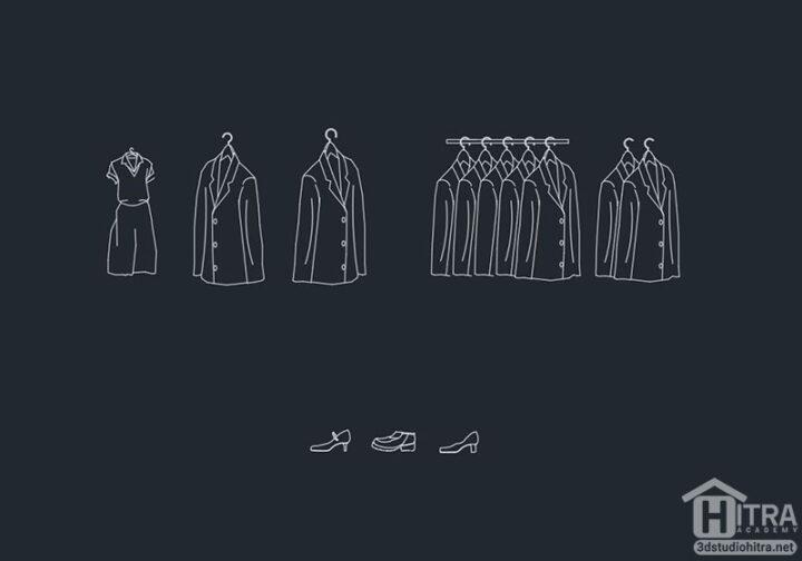 مجموعه رگال لباس جهت جانمایی در پلان های اتوکد