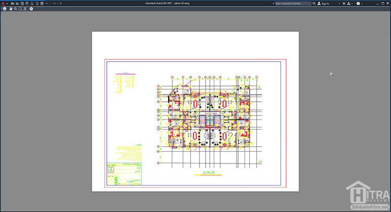 خروجی نهایی تبدیل نقشه اتوکد به pdf