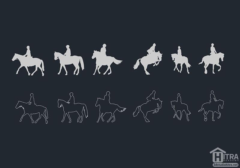 اتوکد اسب سواری