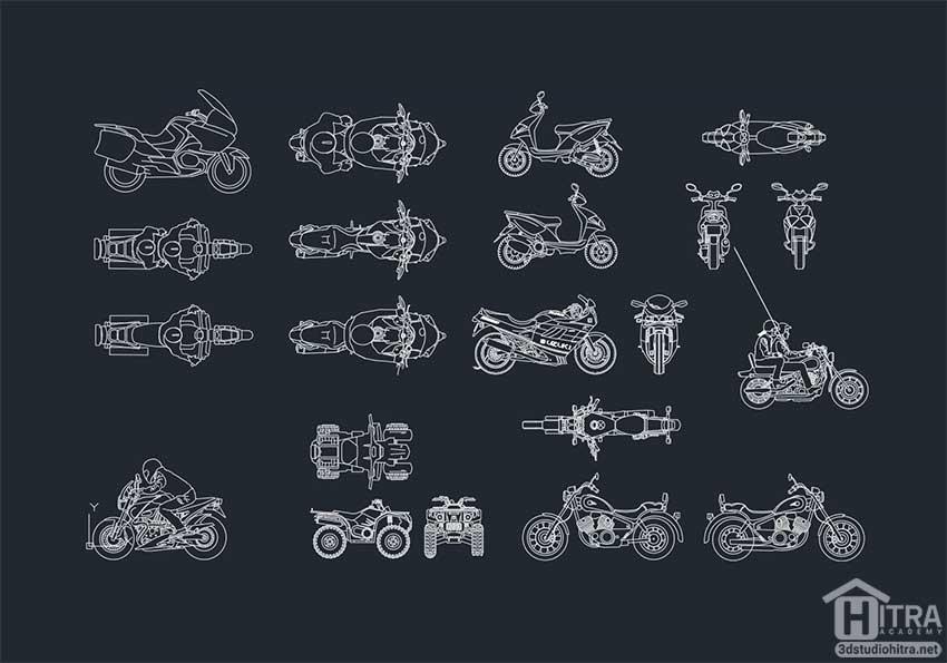 اتوکد موتور سیکلت