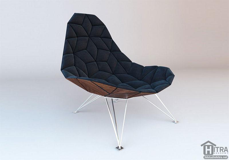 مدل صندلی سه بعدی