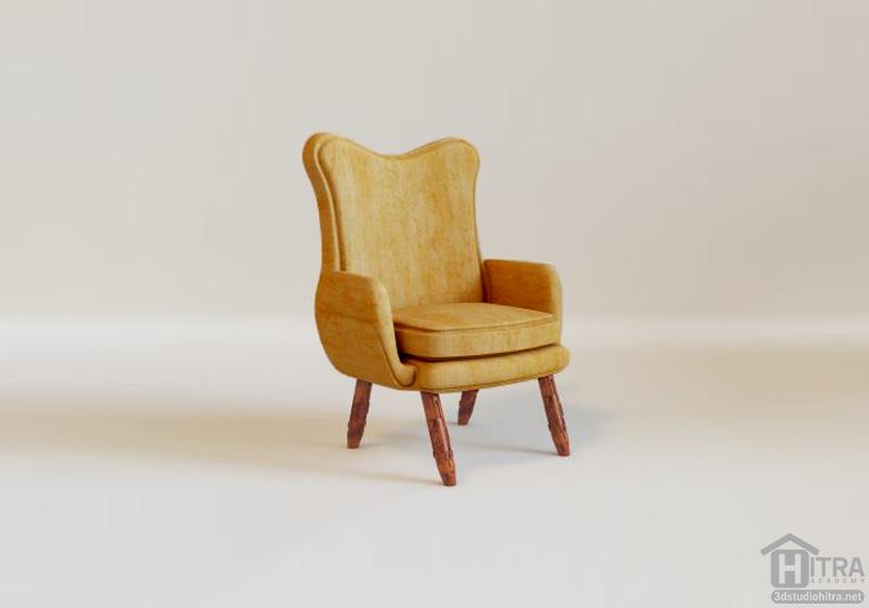 دانلود مدل سه بعدی صندلی