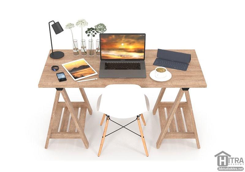 مدل سه بعدی میز کار