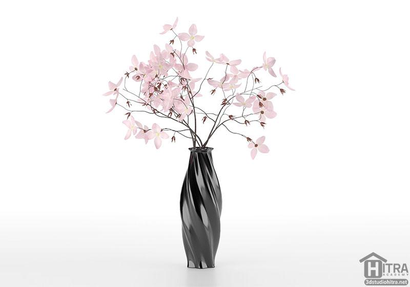 دانلود آبجکت گل و گلدان