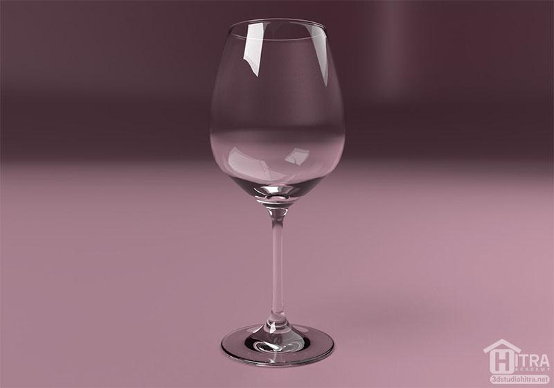 آبجکت لیوان شیشه ای