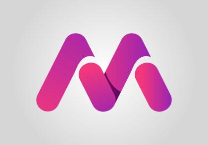 طراحی لوگو با حرف m در ایلوستریتور
