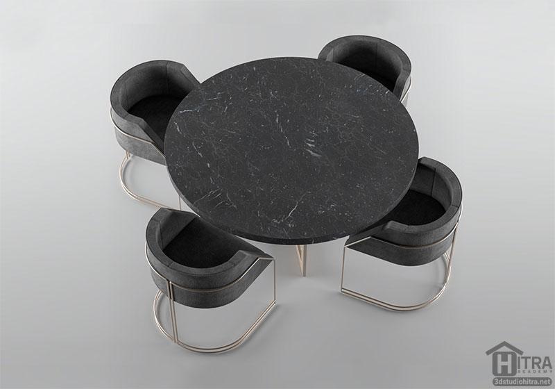 دانلود مدل سه بعدی میز غذاخوری
