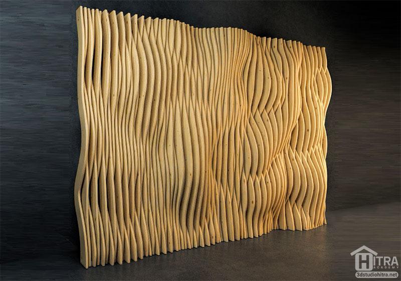 مدل سه بعدی دیوار پارامتریک