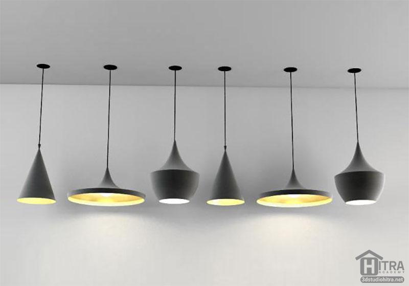 آبجکت لامپ آویز