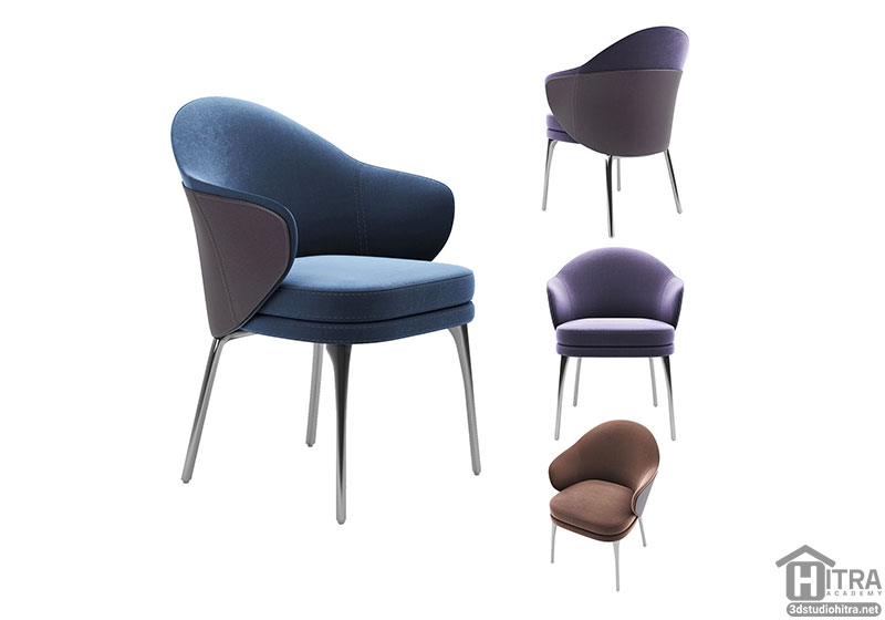 آبجکت سه بعدی صندلی راحتی