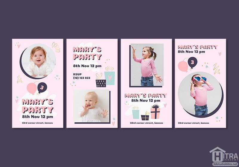 استوری اینستاگرام تولد کودک