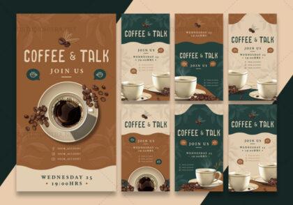 قالب استوری اینستاگرام قهوه