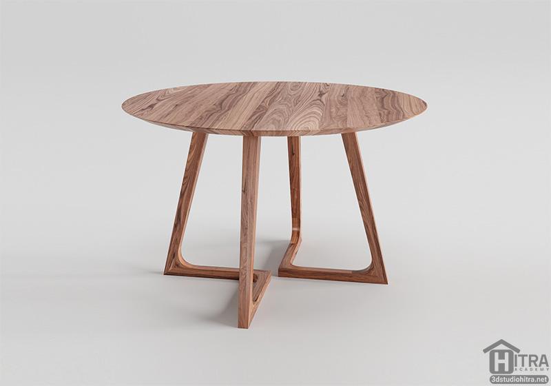 مدل سه بعدی میز ناهارخوری
