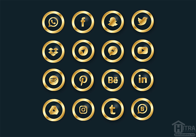آیکون های شبکه اجتماعی