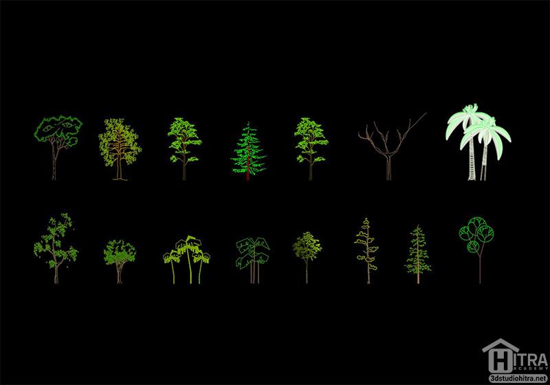 بلوک درخت برای اتوکد